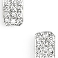 Women's Bony Levy 'Aurora' Diamond Pave Rectangle Stud Earrings (Nordstrom Exclusive)