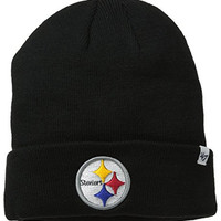 NFL Officially Licensed Pittsburgh Steelers '47 Brand Logo Cuffed Beanie Hat Cap Lid