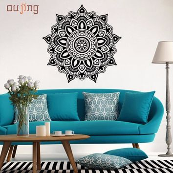 DC 20 Mosunx Business Hot Selling Drop Shipping   Mandala Flower Indian Bedroom Wall Decal Art Stickers Mural Home Vinyl Family