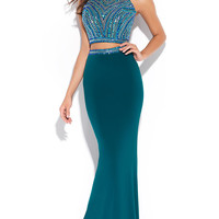 Two Piece Halter Madison James Prom Dress