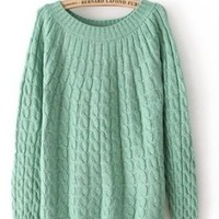 DD2 New hot sales sweater pullovers, autumn winter render sweater for women (Light green)