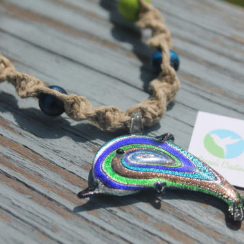 Handmade Dolphin Hemp Necklace