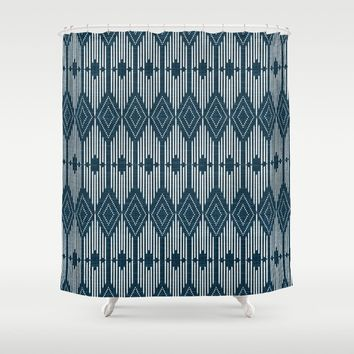 West End - Midnight Shower Curtain by heatherduttonhangtightstudio