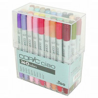 Too. Copic Marker Set - Ciao 36 Colors Pen Set B - Japan Drawing Markers, Anime, Animation, Manga Art Supplies - Non-Toxic, Entry Model