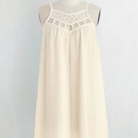 Boho Mid-length Spaghetti Straps Shift, Tent Treat Froyo Self Dress