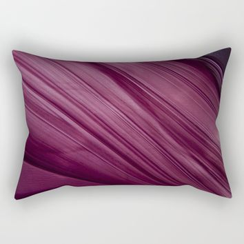 Purple Waves Rectangular Pillow by VanessaGF