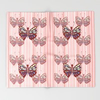 Butterfly Pattern Throw Blanket by Kathleen Sartoris