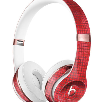 Red Watercolor Polka Dots Full-Body Skin Kit for the Beats by Dre Solo 3 Wireless Headphones