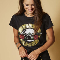 GUNS N ROSES SHIMMER GRAPHIC TEE