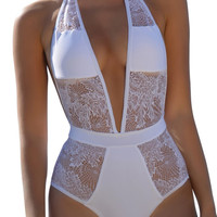 Madeleine One Piece Swim - White