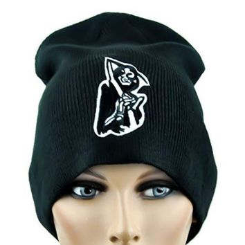 ac spbest Grim Reaper Patch Beanie Sons of Anarchy Cap
