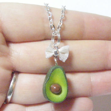 Avocado Miniature Food Necklace - Miniature Food Jewelry