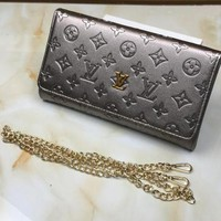Louis Vuitton New Fashion Women Leather Chain Satchel Shoulder Bag Handbag Crossbody