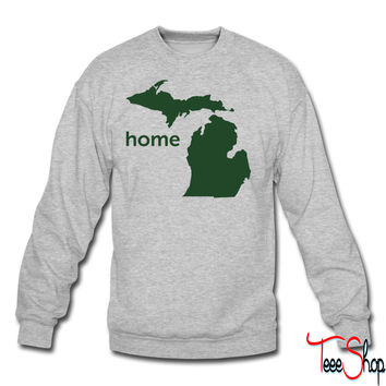 michigan home crewneck sweatshirt