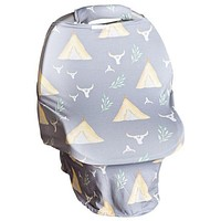 2018 Spring TeePee Carseat Cover W/Plush Handle