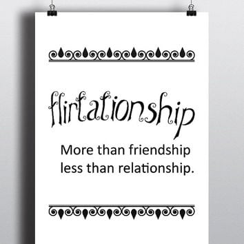 Flirtationship, wordporn - Printable Poster - Digital Art - Download and Print