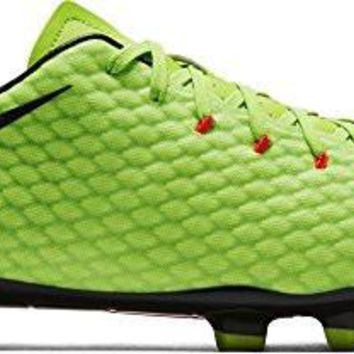 Nike Men's Hypervenom Phelon III Fg Electric Green/Black Soccer Cleat 11 Men US