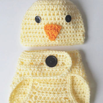 Crochet Baby outfits for Pictures - newborn baby outfit - newborn Photo Prop - Baby Outfit for photos - Crochet Duck Baby outfit - Babies
