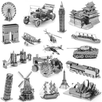 Zero fighter scale models 3D DIY Metal building model for adult kids toys Jigsaw Puzzle for children Metallic Nano Puzzle Toys