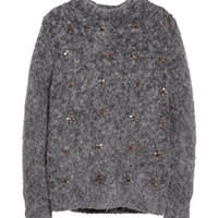 H&M - Wool Blend Sweater - Dark gray - Ladies