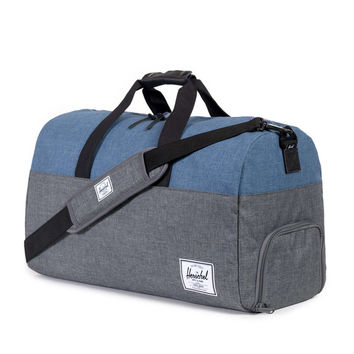 Herschel Supply Co.: Lonsdale Duffle Bag - Charcoal Crosshatch / Navy Crosshatch / Black