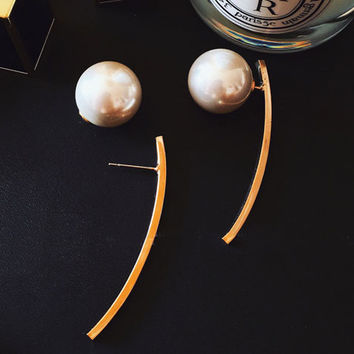 Pearl on Curve Ear Cuffs - LilyFair Jewelry