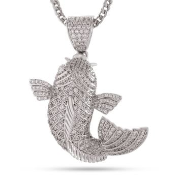 The Platinum Ogon Koi Fish Necklace