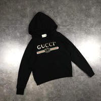 gucci blind for love dog embroidery hoodie sweatshirt