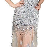Meier Women's Strapless Sweetheart Embellished Prom Evening Gown