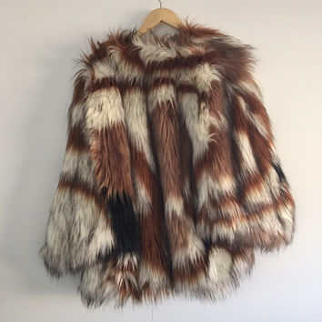 Multi Faux Fur Coat  (ASOS)