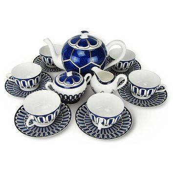 Luxurious European style Bone China coffee set 15pcs
