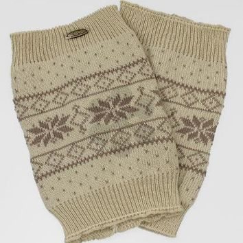 Snowflake Pattern Knit Acrylic Boot Cuffs