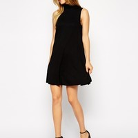 ASOS Sleeveless Swing Dress with Polo Neck