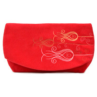 Fabric clutch // Bridesmaid gift // Clutch bag // Red clutch purse // Red purse // Women handbag // Bridesmaid bag // Evening bag for her