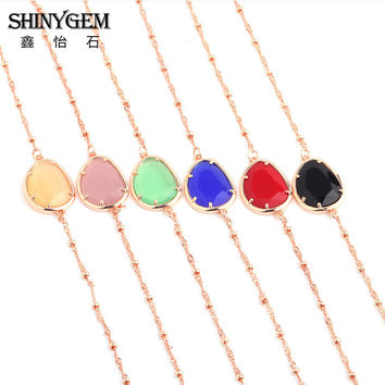 2017 Hot Boho Collar Choker Drop Crystal Beads Necklace &Pendant Charm Vintage Statement Beads Necklace Jewelry