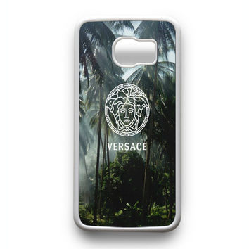 Versace logo palm tree Samsung Galaxy S6 Edge Case