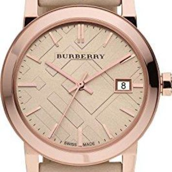Burberry Watch The City Check Stamped Round Dial BU9014