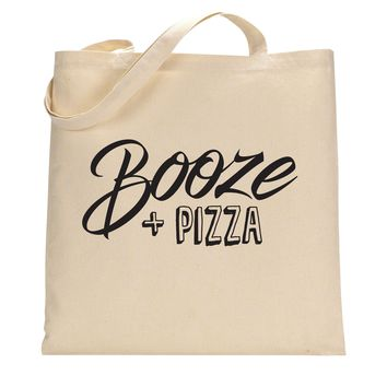 Booze and Pizza Tote