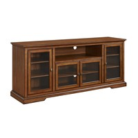 """70"""" Highboy Style Wood TV Stand - Rustic Brown"""