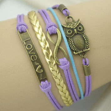 New Arrival Awesome Gift Great Deal Shiny Stylish Hot Sale Vintage Owl Bracelet [4918893252]