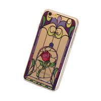 iPhone Magic Rose Stained Glass Design Case