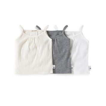Burt's Bees Baby™ 3-Pack Camisole Set in Grey/Multicolor