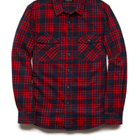 Classic Fit Plaid Shirt Blue/Red