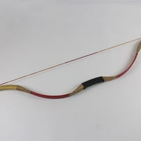 "35# Recurve bow Horsebow 50"" with Red leather for Women&Youth Archery Shooting"