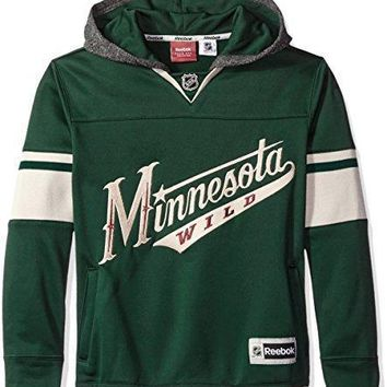 Nhl Youth Boys 8 20 Wild Faceoff Jersey Hood
