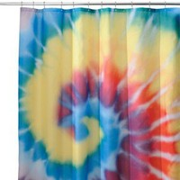 "InterDesign Tie Dye Shower Curtain - Multi (72x72"")"
