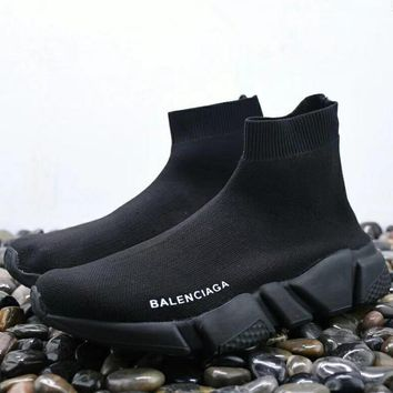 All Black Balenciaga Classic Woman Men Fashion Breathable Sneakers Running Shoes
