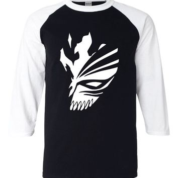 Adult Anime BLEACH Kurosaki Ichigo cartoon tshirt 2017 new summer 3/4 sleeve t shirts 100% cotton raglan men t-shirt for fans