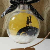 Nightmare before Christmas ornament,  jack and sally, christmas, ornament, sale