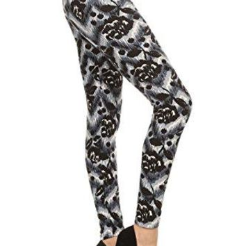Leggings Depot Ultra Soft Womens Printed Fashion Leggings Batch26